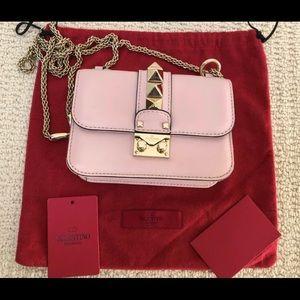 Valentino Glam Lock Rockstud Mini Pink Gold